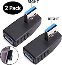 USB 3.0 Adapter 90 Degree Male to Female Coupler Connector Plug Right Angle 2PCS by Oxsubor