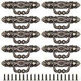 Tiradores de Puerta de Estilo vintage,RoadLoo 10 Piezas Metal Barra de Puerta Mueble Tirador Estilo Retro Bronce Tiradores con Empulgueras para Gabinete Muebles Armarios Cajones Armarios Puertas