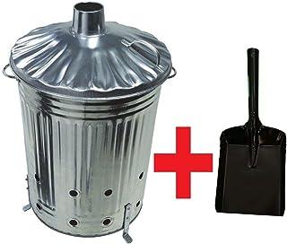 Durable Tool 90 Litre Garden INCINERATOR Burner For Burning Rubbish Waste 90L + Leaf Grabbers