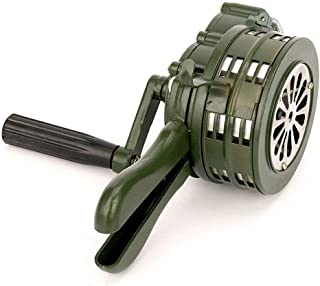 Gelentea Hand Crank Siren Hoorn 110dB Handleiding Bediende Metalen Alarm Air Raid Noodveiligheidsalarm