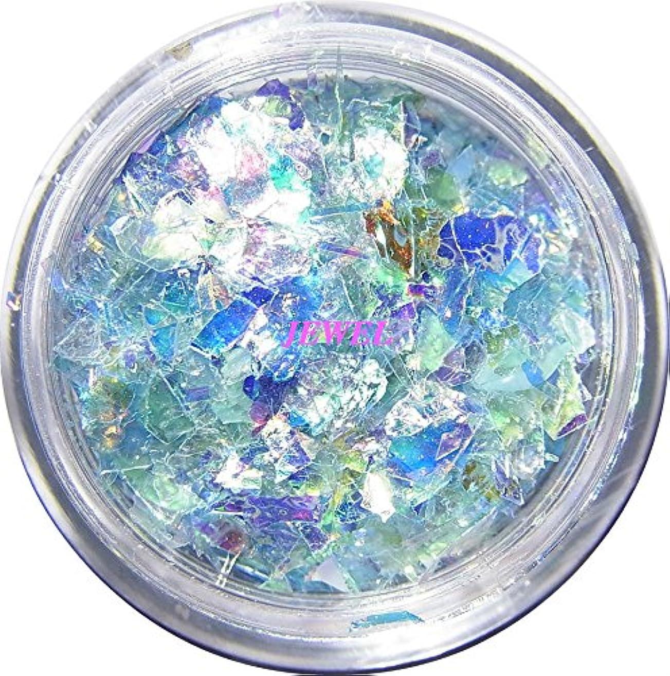 砲兵救援難しい【jewel】乱切りホロ 0.7g入り 12色から選択可能 クラッシュホログラム パステルカラー 素材 手芸 レジン ネイルアート パーツ (ライトブルー)
