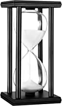 Hourglass Timer 30/60 Minutes Wood Sand Hourglass Clock for Creative Gifts Room Decor Office Kitchen Decor Birthday Christmas Gift (30 min, White)