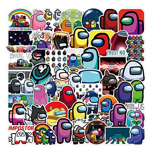 Zzlush Paquete de Etiquetas engomadas Frescas 100pcs / Set Juego Caliente Entre Nosotros Juego Graffiti Pegatinas Animación Creativa Equipaje Giutar Pegatinas de Regalo
