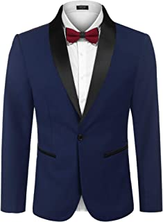 COOFANDY Men's Tuxedo Jacket Wedding Blazer One Button Dress Suit for Dinner,Prom,Party