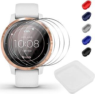 Screen Protector for Venu Smartwatch, AFUNTA 5 Pcs TPU Film and 5 Pcs Dust Plug Anti-Scratch High Definition Full Coverage...