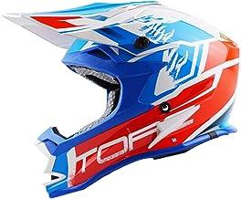 Personalización exclusiva Casco de motocross casco de rally de carretera carreras al aire libre casco bicicleta de montaña azul/rojo Conducción segura (Size : M)