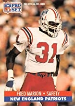 1991 Pro Set Football Card #582 Fred Marion New England Patriots Official NFL Trading Card