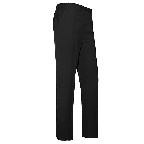 6a2daa47a Women Ladies Trousers Classic Pants Girls School Uniform Half Elasticated  Waist Office Bottoms UK 10-