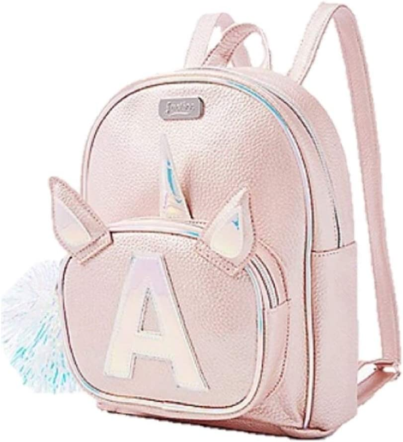 NEW Girls Justice Silver Flip Sequin Mini Small Backpack Initial Bag Pom Pom