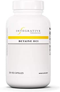Integrative Therapeutics - Betaine HCI - Support for Healthy Stomach Acidity, Gastric Function, and Protein...