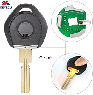 Replacement Shell Remote Key Case Fob Blank Key Uncut Hu58 Blade with Light Indicator for BMW 3 5 7 Series E36 E34 E32