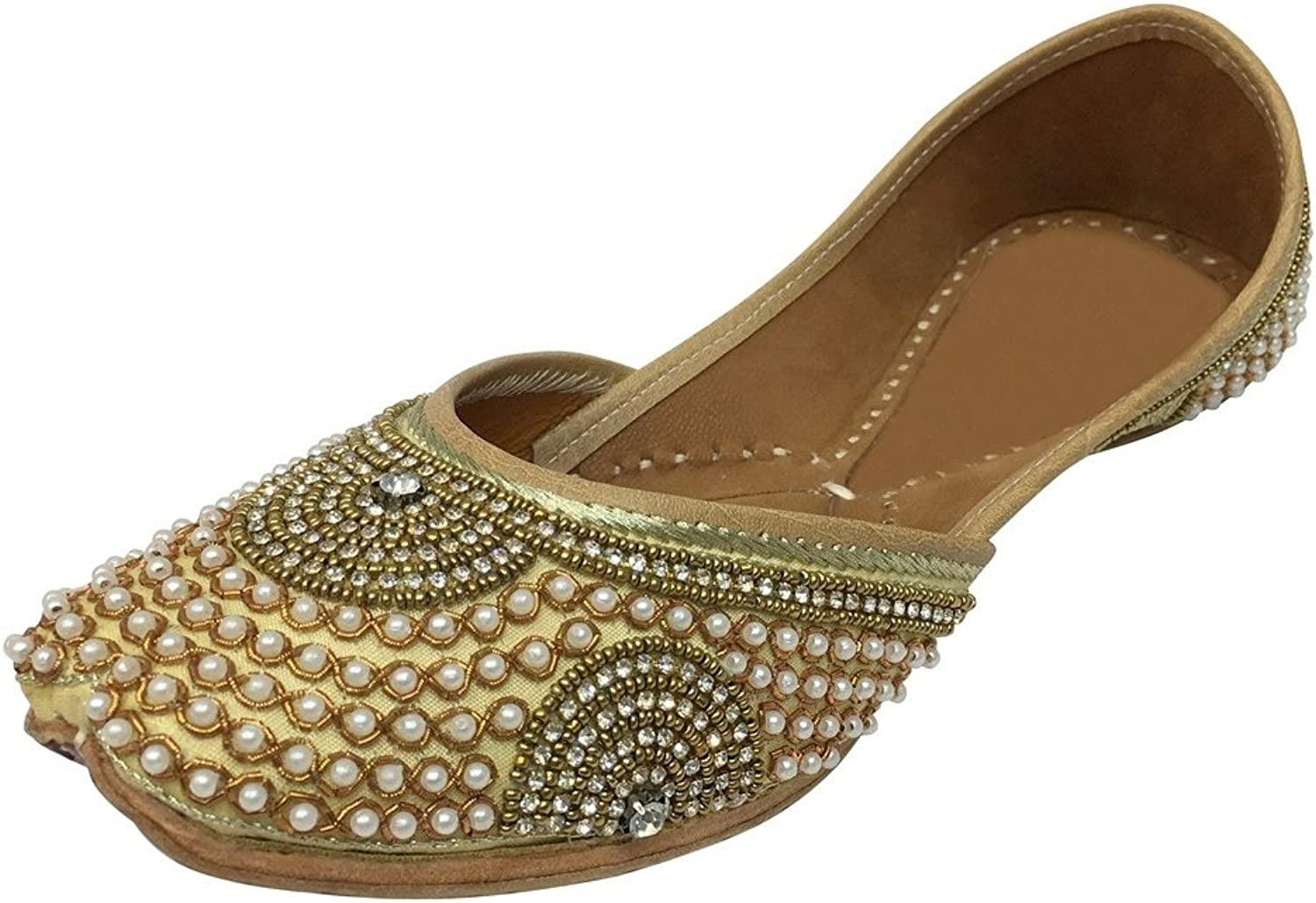 Step n Style Indian Women shoes Leather Flip-Flops Juti Traditional Handmade Mojari DD999 Copper
