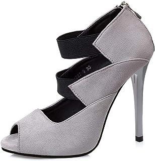 Ying-xinguang Shoes Fashion Fish Mouth Single Shoes Suede Fashion Versatile Stiletto Heels Women's High-Heeled Comfortable