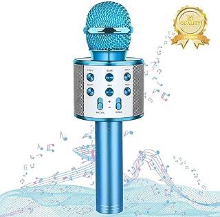 Matesy Wireless Bluetooth Portable Karaoke Singing Microphone with Speaker - A Fun Gifts