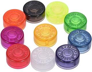 Muslady MOOER 10pcs Footswitch Topper Protector Colorido Plástico Parachoques para Pedal de Efectos de Guitarra (Entrega de Color Aleatorio)