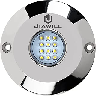 Jiawill 60W CREE LED Surface Mount Underwater Boat Lights 316L Stainless Steel with Internal Driver and Overheat Protection 2853 Lumens