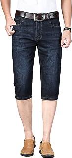 Pantalones Vaqueros de Verano para Hombre, Herramientas de sección Delgada, versión Coreana de Pantalones Cortos Casuales ...