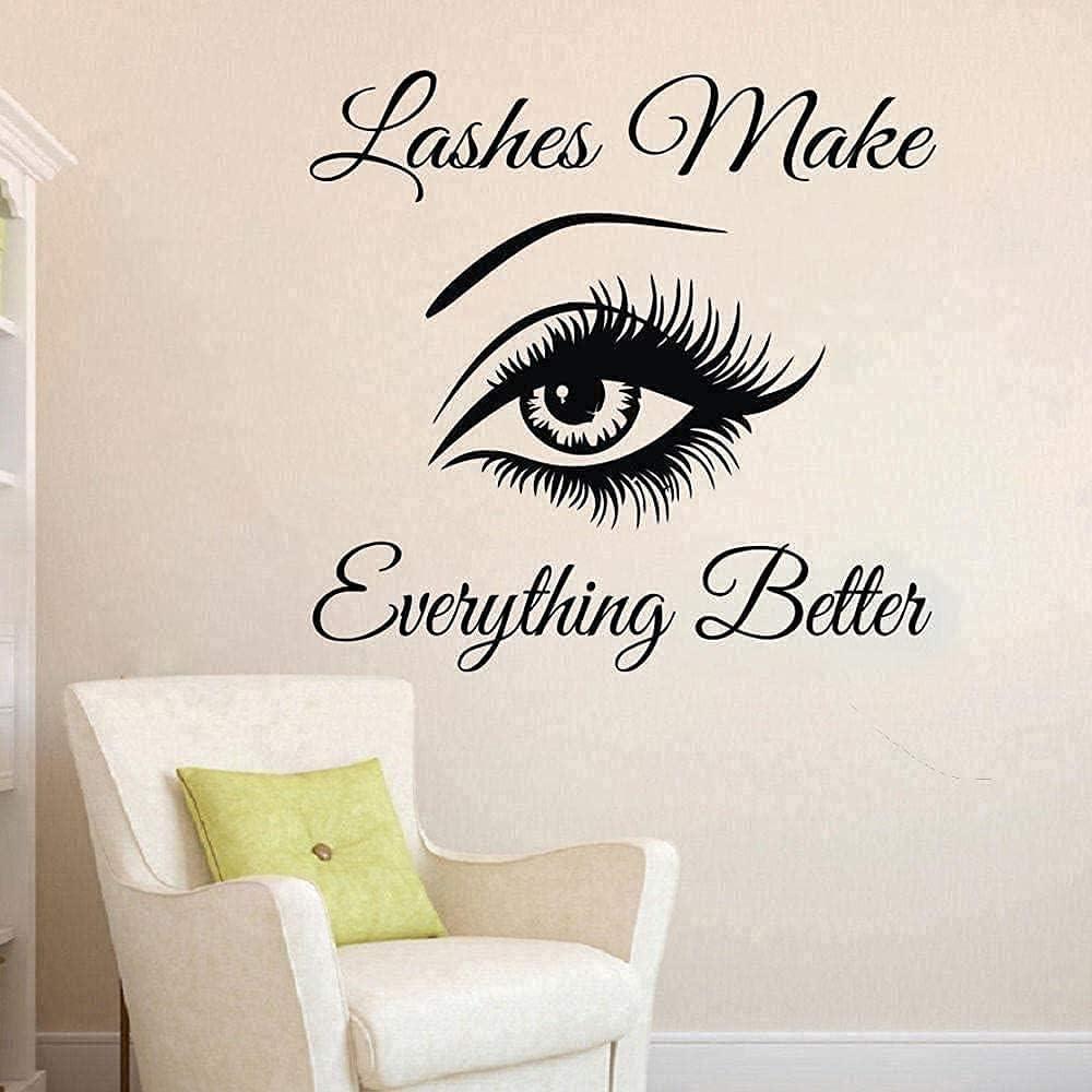 Wall Sticker Art Indoor Mural New products, world's highest quality popular! Beauty Sa Eyelash Eyebrow Max 55% OFF