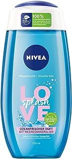NIVEA Żel pod prysznic Love Splash (250 ml), odświeżający żel pod prysznic z minerałami morskimi, prysznic o zapachu śwież...