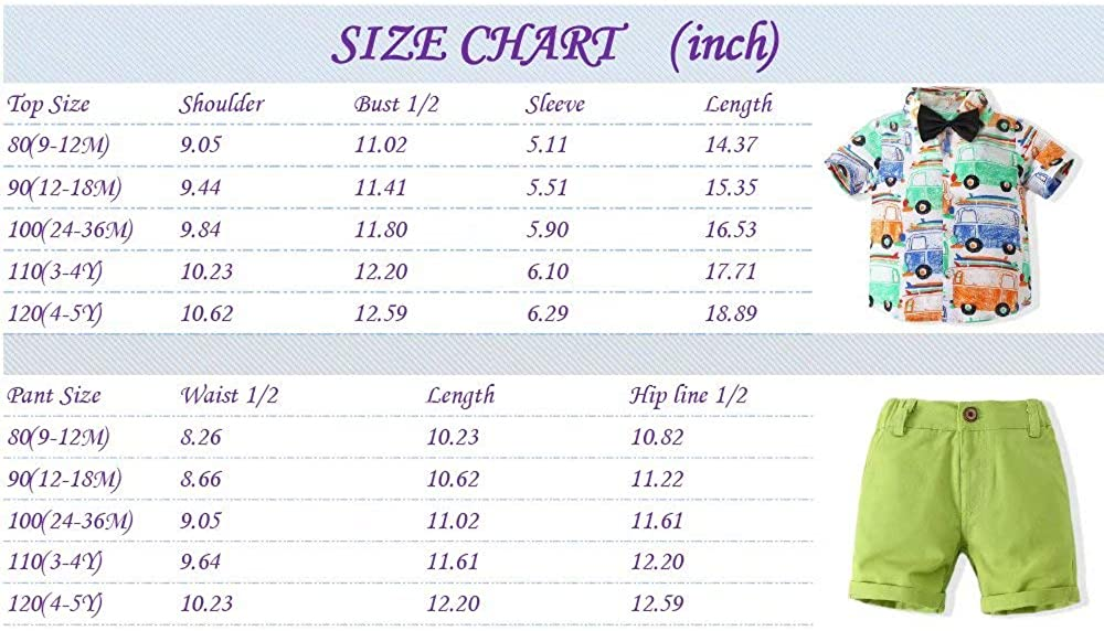 Clothfairy Boys Summer Short-Sleeved Shirt and Shorts Two-Piece Casual Suit