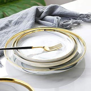Services De Table Motif De Marbre Européen Vaisselle En Céramique Phnom Penh Mis À La Maison Créative Bol De Riz Assiette ...
