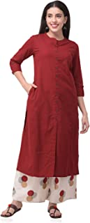 Pistaa's Women's Cotton Solid Readymade Salwar Suit Set
