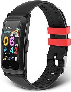moreFit Träningsarmband barn, fitnessspårare med blodtryck pulsmätare fitnessklocka barn aktivitetsmätare stegräknare spor...