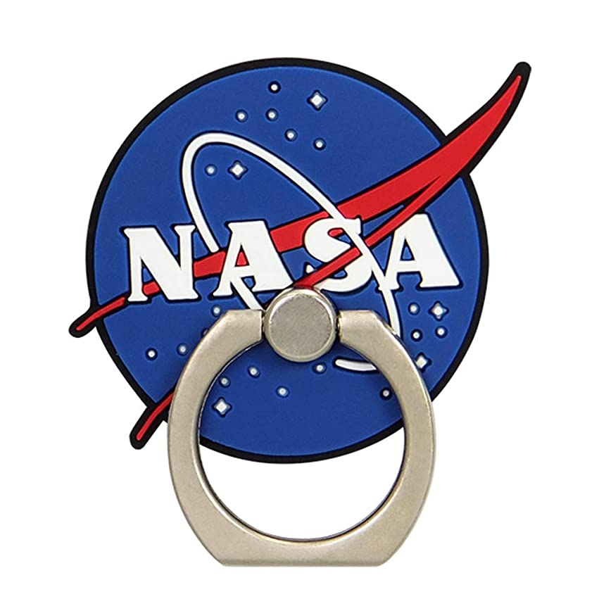 罪管理する有用スマホリング iPhone/Android/全機種対応 [立体/360°回転/落下防止] NASA MEATBALL CollaBorn
