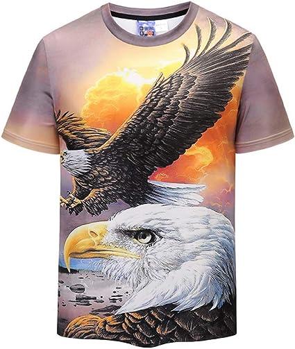 Aigle Tête Animaux Oiseaux Femme T-shirt S-3XL Nouveauté