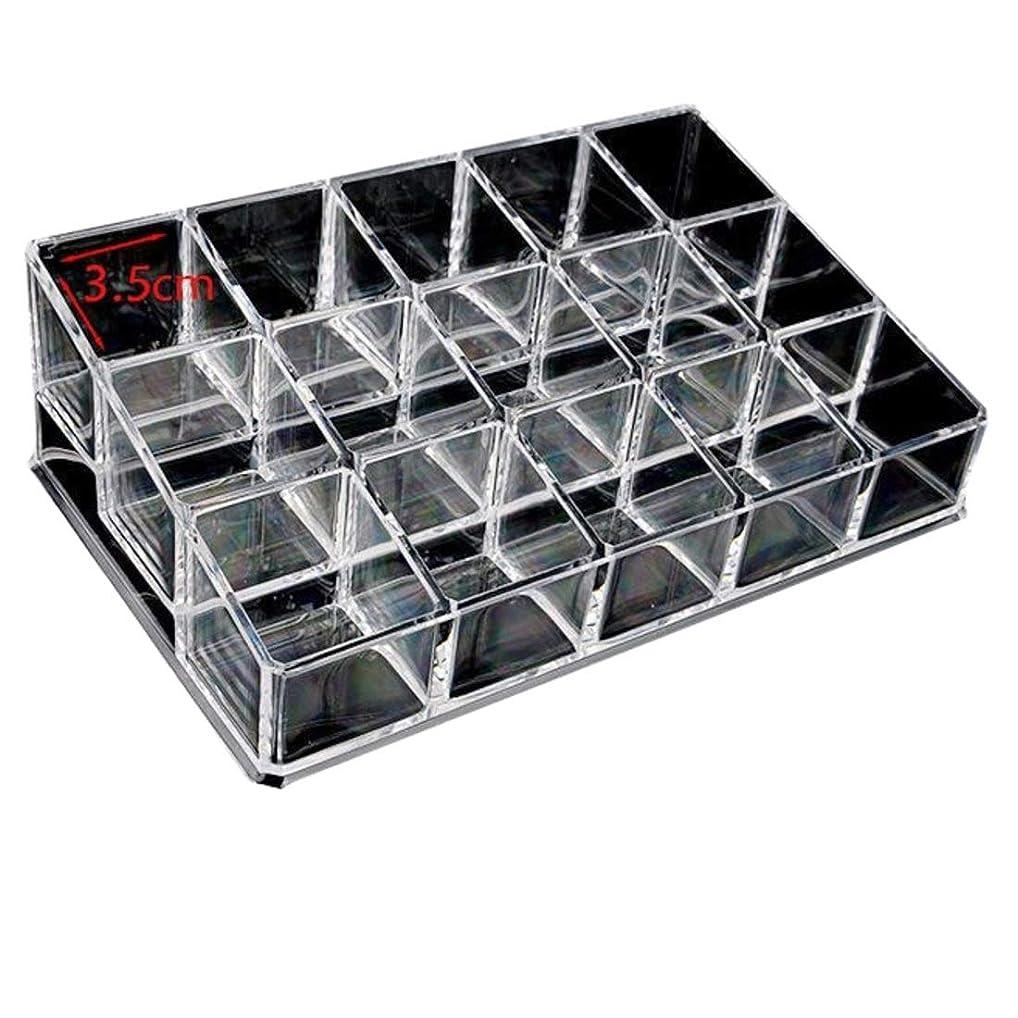 多用途難民バッテリーKainuoo 透明化粧品収納シリーズ 15グリッド収納ボックス口紅マニキュア化粧品サンプルオーガナイザー (Color : Clear)