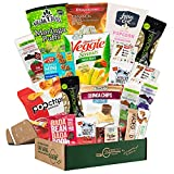 VEGAN Healthy Snack Box Variety Pack [20 Count] INDEPENDENCE DAY GIFT BASKETS for Family, Military, Clients, College Students | Plant-based Gluten Free Snack Food Gifts | Snack Attack Sympathy Gift Baskets