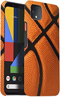 CorpCase Hard Plastic Case Compatible with Google Pixel 4-Basketball-Unique Slim Case with Great Protection