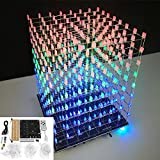 LaDicha DIY WiFi App 8X8X8 3D Light Cube Kit Rosso Blu Verde LED Mp3 Music Spectrum Kit El...
