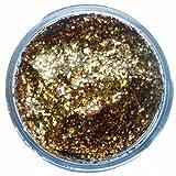 Snazaroo - Pintura facial y corporal con gel de purpurina, 12 ml, color dorado rojo