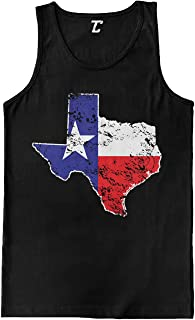 Texas State Flag Map - USA Men's Tank Top
