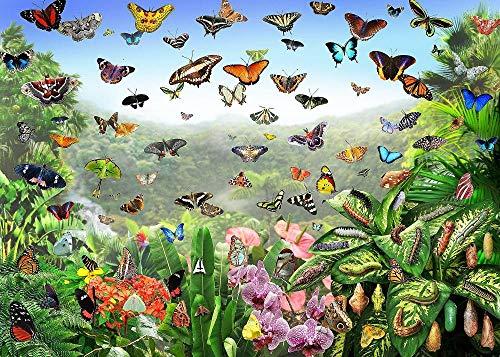WFYY Puzzles Adultos 1000 Piezas, Mariposa, Insecto, Planta, Ecología