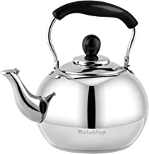 Stove Top Whistling Tea Kettle 2.5 Quart Classic teapot appearance Culinary Grade Stainless Steel Teapot Composite process bottom