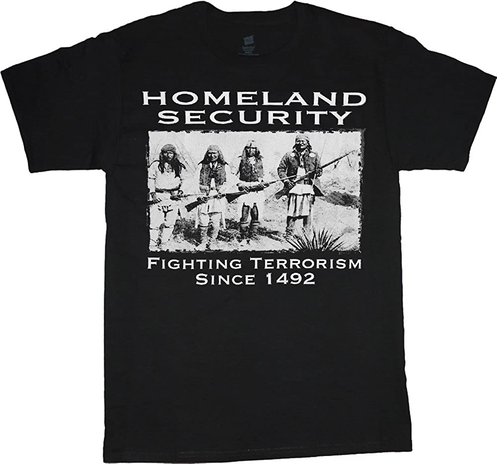 Decked Out Duds Big Men's Clothing Shirt Homeland Security Indians tee
