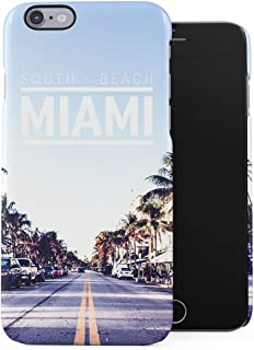 South Beach Miami Hot City Chill Sinner City Tumblr Plastic Phone Snap On Back Case Cover Shell Compatible with iPhone 6 & iPhone 6s