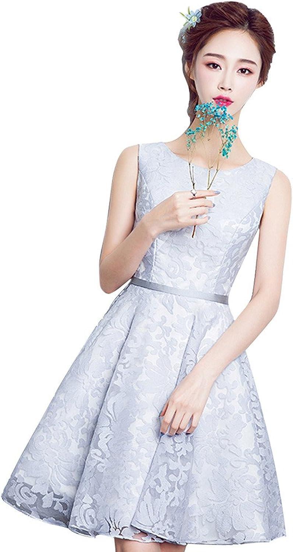 JoyVany Women's Lace Short Bridesmaid Dress Straps Short Prom Homecoming Dress