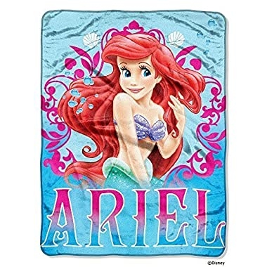 Disney Princess Mermaid Ariel  Coral Reef  Micro Raschel Throw - 46 x60