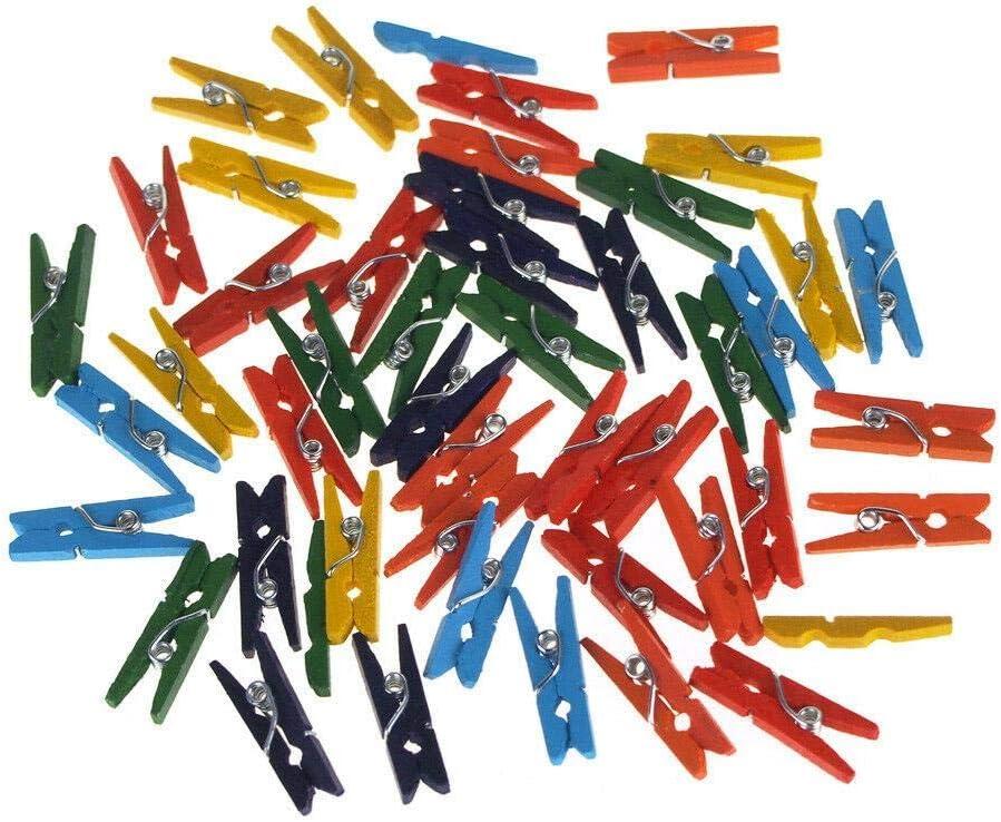 Mini Wooden Regular dealer Clothespins Assorted Branded goods 45-Count Laundr 1-Inch Color