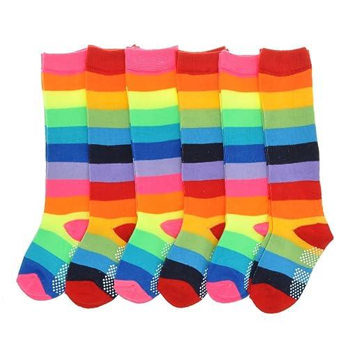 Nice Lawadka Rainbow Kid Sport Girls Boys Socks Childrens Knee High Boys Socks Kids Leg Warmers Cotton Students Style Sufficient Supply Mother & Kids