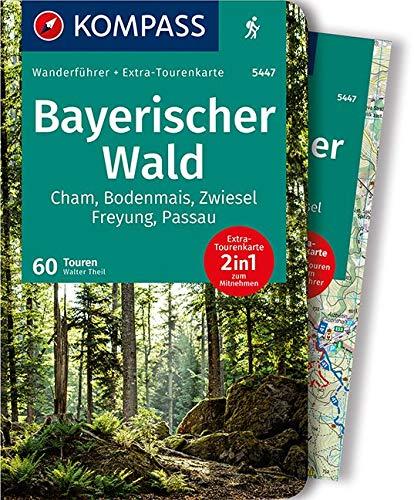KOMPASS Wanderführer Bayerischer Wald: Wanderführer mit Extra-Tourenkarte, 60 Touren, GPX-Daten zum Download