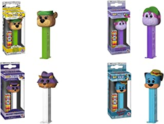 Pop! Pez Hanna Barbera Bundle Limited Edition Candy and Dispenser Set of 4 - Yogi Bear, Huckleberry Hound, Secret Squirrel and The Great Grape Ape