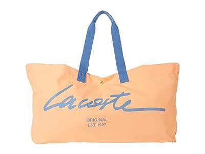 Lacoste Script Croc Canvas Tote Bag
