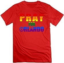 Men's Pray For Orlando Peace Pulse Nightclub Homosexuality T-shirt Natural