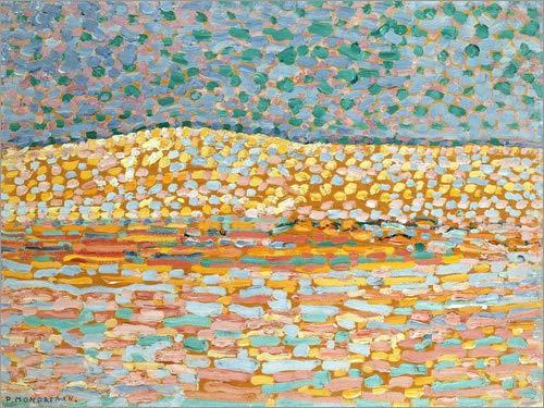 Posterlounge Acrylglasbild 130 x 100 cm: Dünen Studie von Piet Mondriaan/Bridgeman Images - Wandbild, Acryl Glasbild, Druck auf Acryl Glas Bild