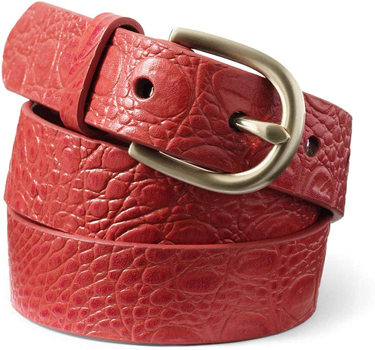 Lands' 限定特価 End Women's Crocodile Leather Classic 大人気 Embossed Belt