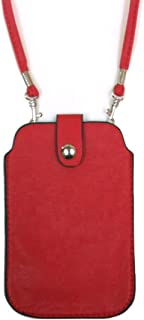 Leather Neck Pouch for Phone (Style 2) – Red